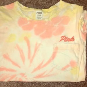 Short sleeve Victoria's Secret Tie dye pink shirt